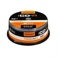 INTENSO CD-R 80' 700MB 52x Cake Box x25, (00531)