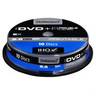 INTENSO DVD+R DOUBLE LAYER Printable 8,5GB, 8x Cake Box x10, (09190)
